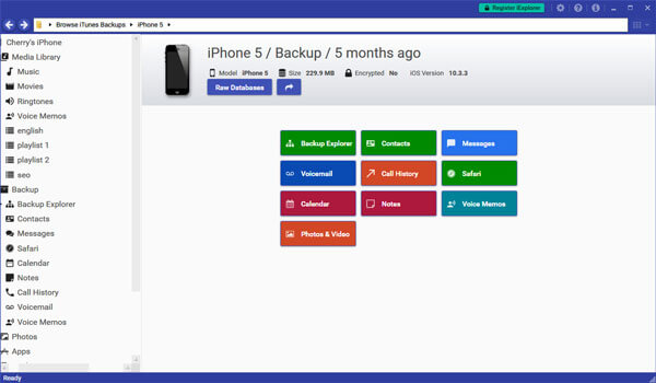 Browse iPhone Backup