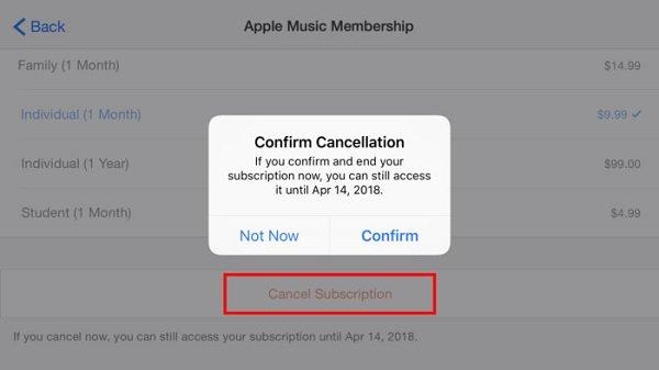 Annuler Apple Music