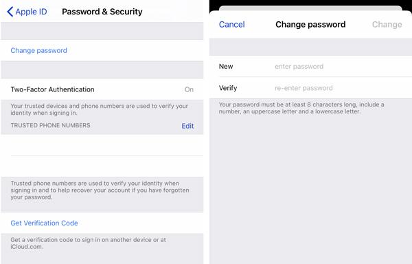 Ändern Sie das Apple ID-Passwort