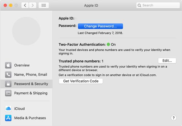 Ändern Sie Ihr Apple ID-Passwort auf dem Mac