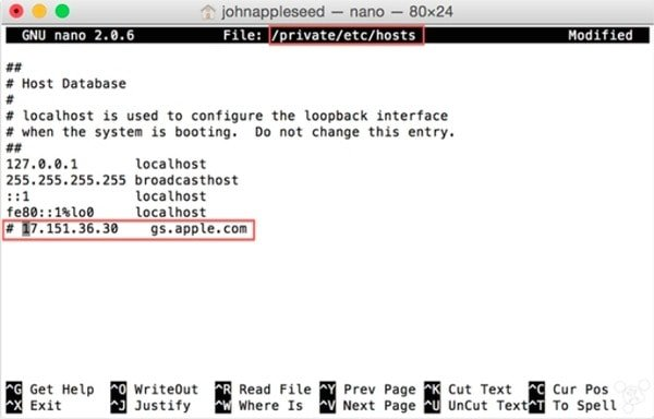 Check Host File on Mac