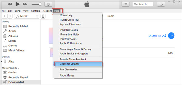 Aktualisieren Sie iTunes unter Windows