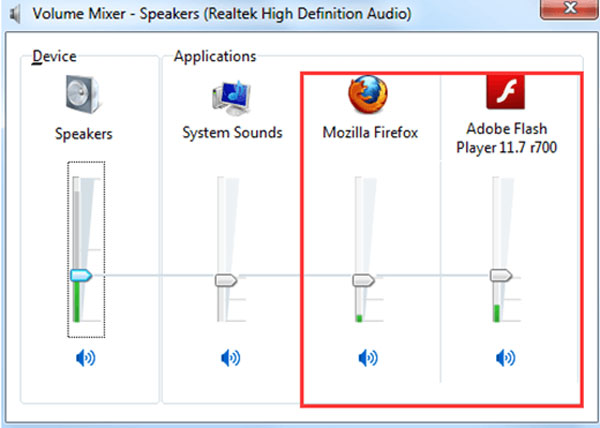 windows 7 check sound card