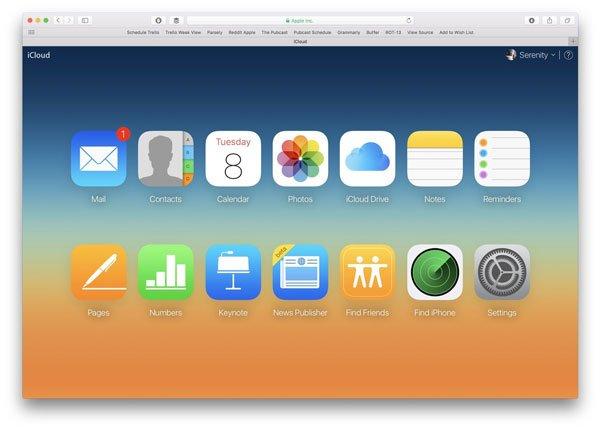 Überprüfen Sie den iCloud-Speicher über den Browser