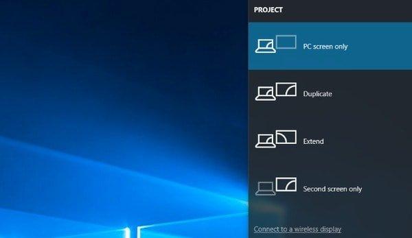 Aseta tietokone vain PC: n näyttöasetuksissa