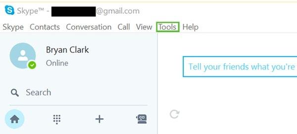 Wählen Sie Skype-Tools