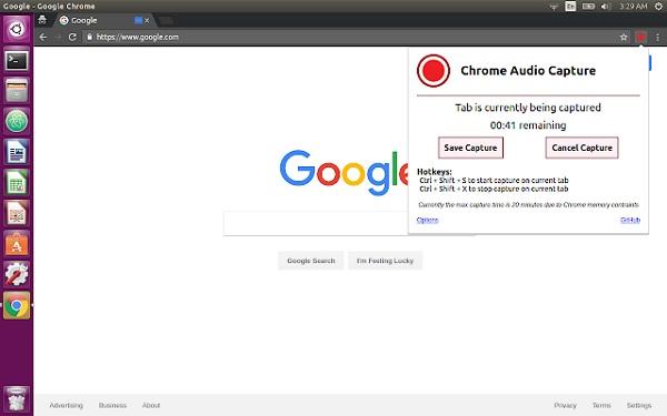 Chrome Audioaufnahme