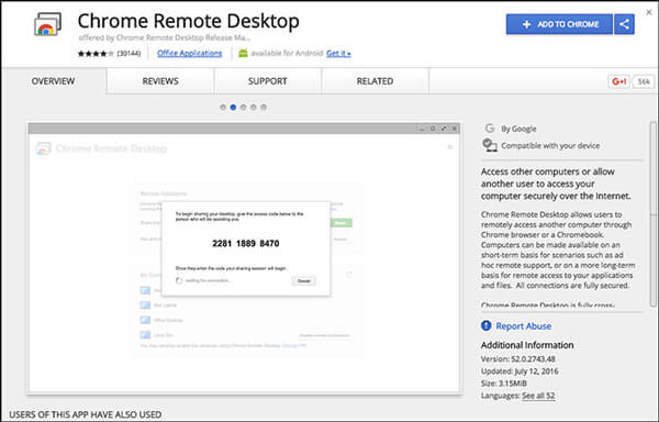 Laden Sie Chrome Remote Desktop herunter