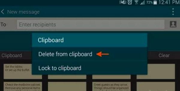 Android上のクリアクリップボード