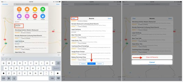 Clear Map History iOS9