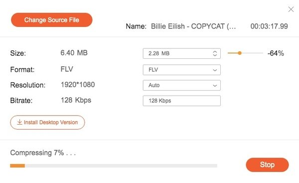 Komprimieren Sie FLV Online kostenlos