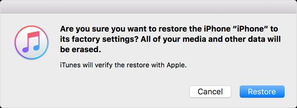 iPhoneを復元します。