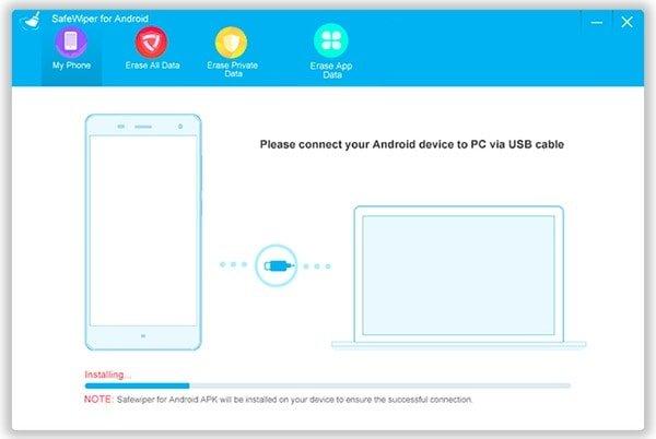 Verbinden Sie Android mit SafeWiper für Android