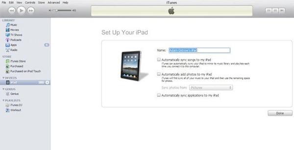 Verbinden Sie das iPad
