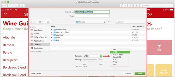 MacでJPEGをPDFに変換する