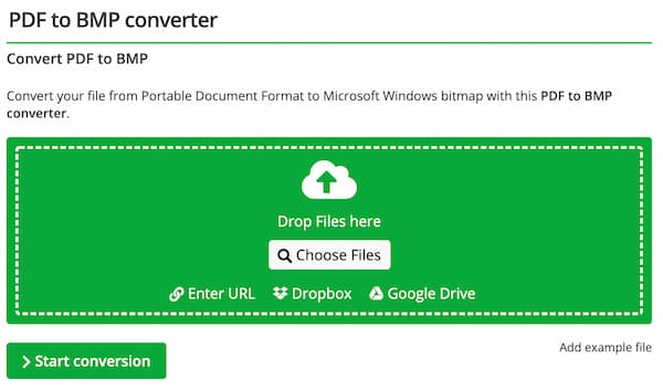 PDFをBMPオンラインコンバーターに変換する