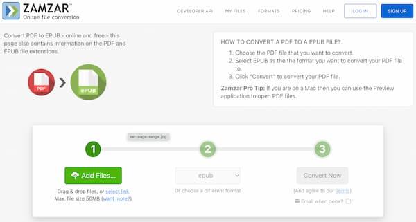 Convertir un PDF en EPUB en ligne