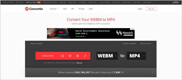 Convertissez WebM en MP4 gratuitement en ligne