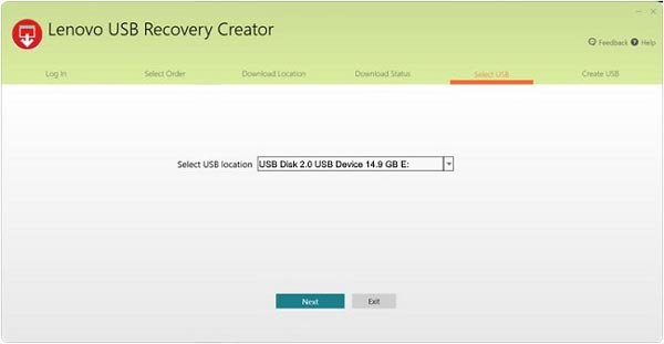 recovery disk windows 7 lenovo