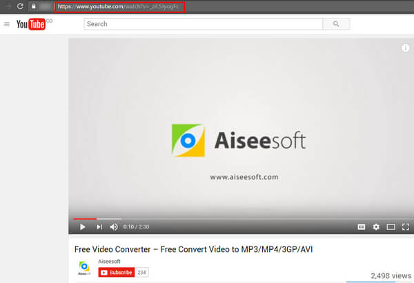 Step 3 Paste The YouTube Video Address