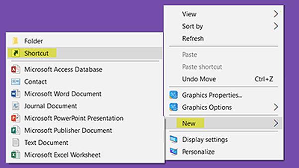 Erstellen Sie eine Verknüpfung für fehlende Desktop-Ordner Windows 10