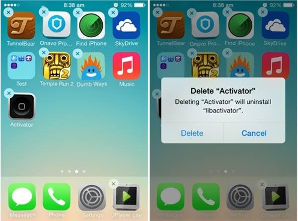 iPhoneでアプリを削除する