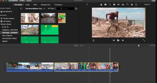 Löschen Sie Clips auf iMovie