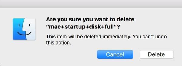 Dokument auf Mac löschen
