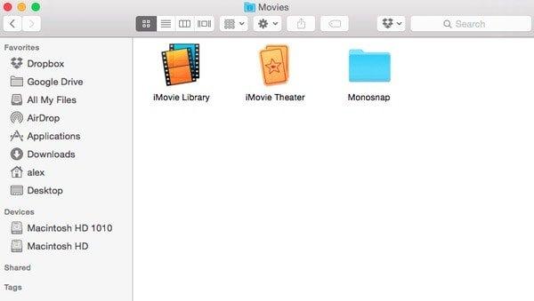 Löschen Sie die iMovie-Bibliothek