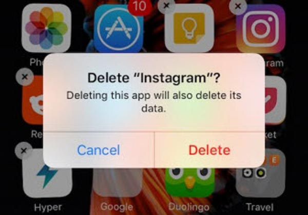 Delete Instagram iPhone