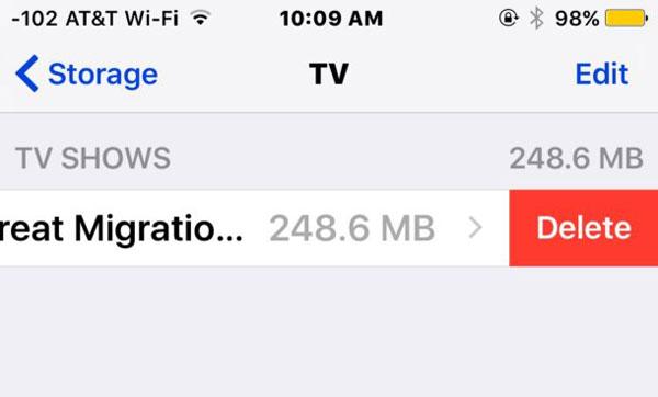 Supprimer les émissions de télévision d'iCloud via TV App