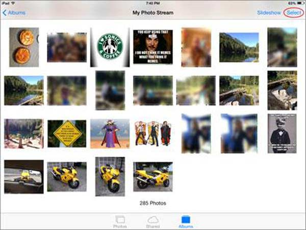 Foto vom iPad löschen