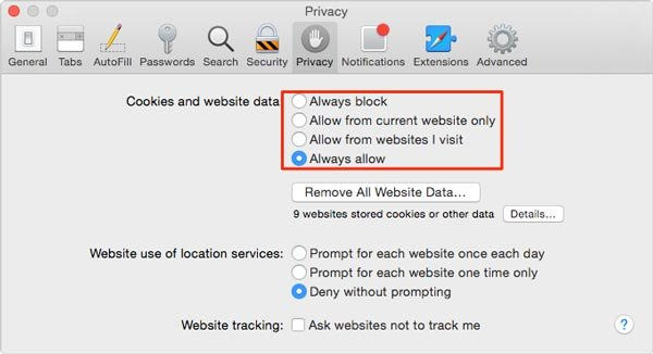 Delete Safari Cache and History