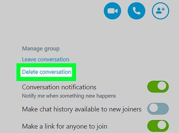 8 chatverlauf löschen skype How to