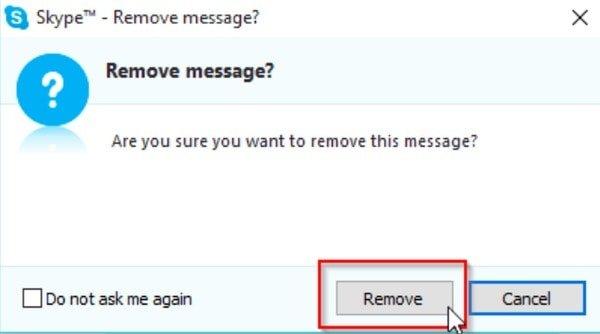Löschen Sie einzelne Skype-Nachrichten