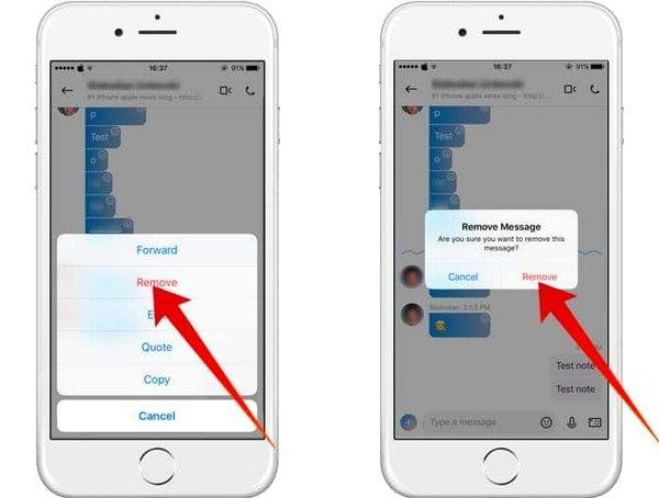 Löschen Sie Skype-Nachrichten auf dem iPhone