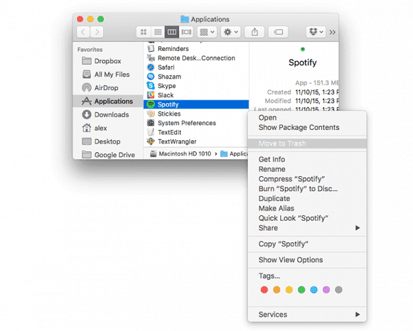 2 Efficient Ways to Completely Uninstall Spotify on iMac/MacBook