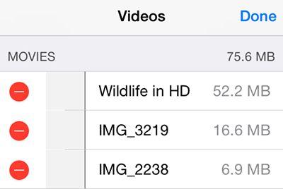Videos löschen