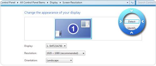 Windowsの画面解像度設定を開く