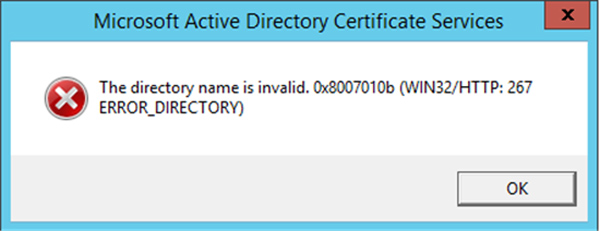 Directory Invalid