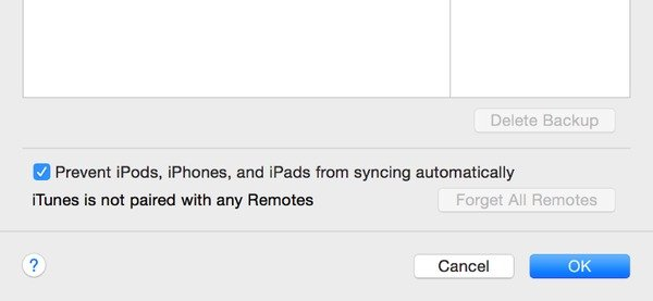 Disable Automatic Syncing