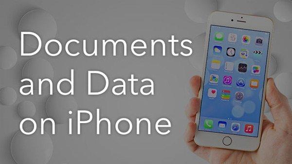 iPhone上の文書とデータ