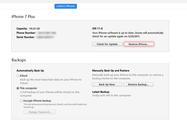 Rétrogradation de iOS 11 vers 10