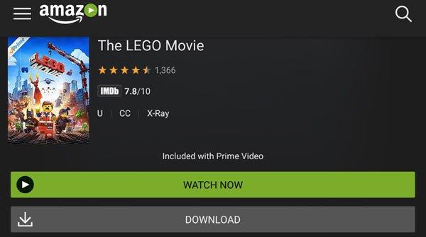 Laden Sie das Amazon Prime-Video auf Ihr Handy herunter