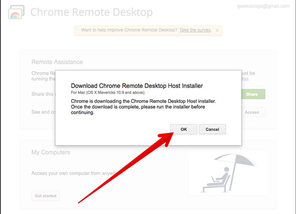 Chrome Remote Desktop Code