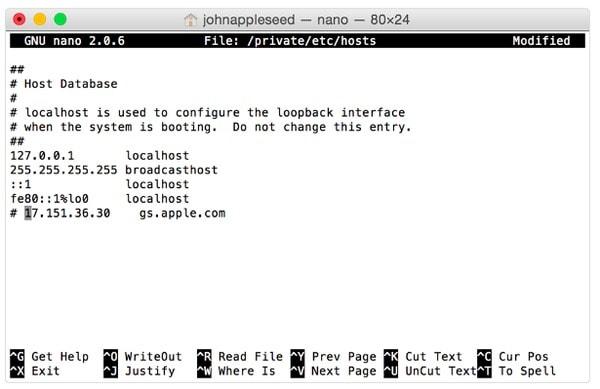 ターミナルでHostsファイルを編集します