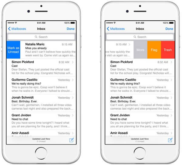 Mails von iCloud aus verwalten