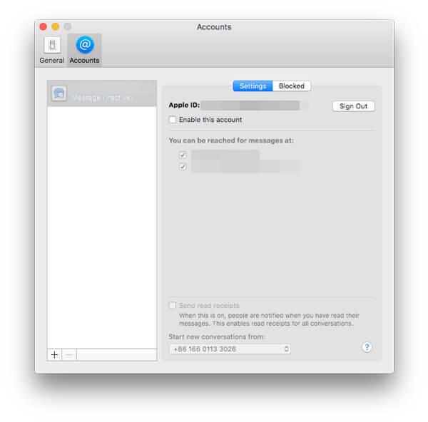 Activer désactiver iMessages Mac
