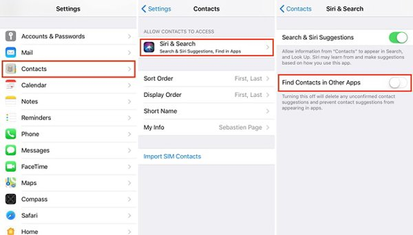 Enable Find Contacts