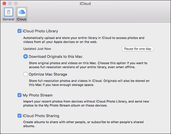 Enabled iCloud Photo Library